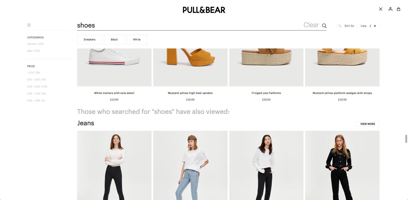 Next Queries appearing after scrolling through 12 rows in Pull&Bear